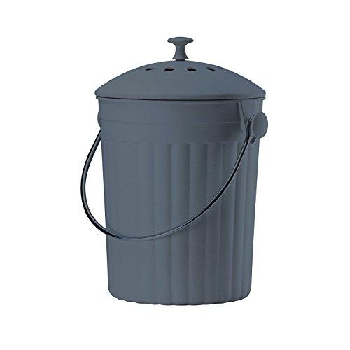 Eddingtons Eco Seau à compost Caddy Plus filtres–Ardoise