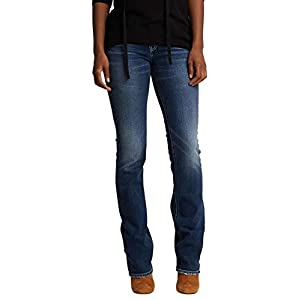 Silver Jeans Co. Women's  Curvy Fit Mid Rise Slim Bootcut Jeans with Flap Pockets