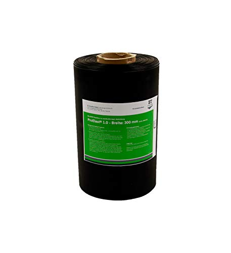 Folienabdichtung für Außen – ProElast® | EPDM-Folie 1 mm dick, 300 mm breit, Länge nach Bedarf – Preis pro Meter, druckwasserdicht