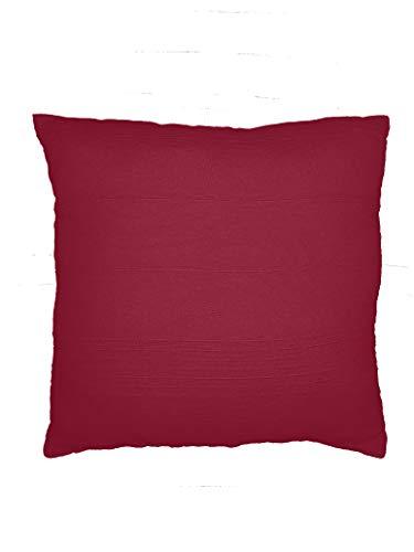 Soleil d'ocre A- Funda de cojín, polialgodón, 60 x 60 cm, Color Rosa