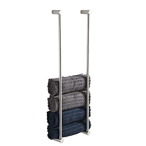 BVL Toallero de Barra, 2 Paquetes de 304 de Acero Inoxidable toallero, 60 cm, Soporte para Toallas para baño, Organizador de Almacenamiento (Cepillado)