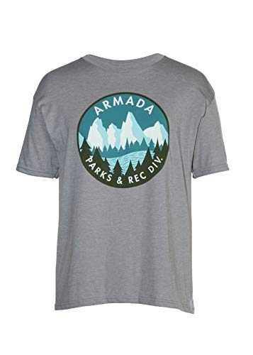 Armada Ranger T-Shirt Men's Fashion Crew Neck Short Sleeves Cotton Tops Clothing, Grey