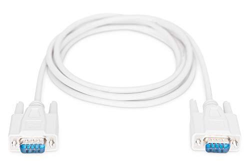 DIGITUS Serielles Anschluss-Kabel - D-Sub 9 zu D-Sub 9 - Stecker zu Stecker - 2.0m - RS-232 - RS-485 - Beige