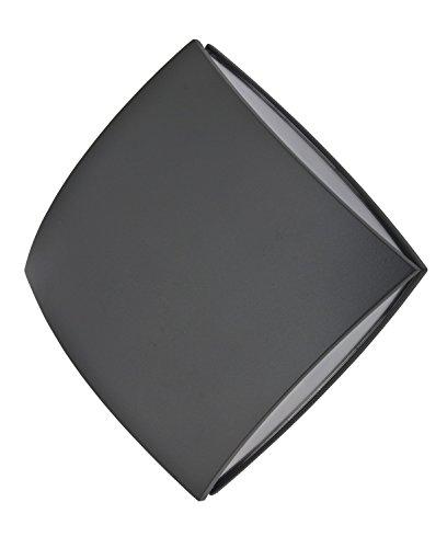 Lutec 563800024 Applique Pilo 1L, Métal, Intégré, 11 W, Noir