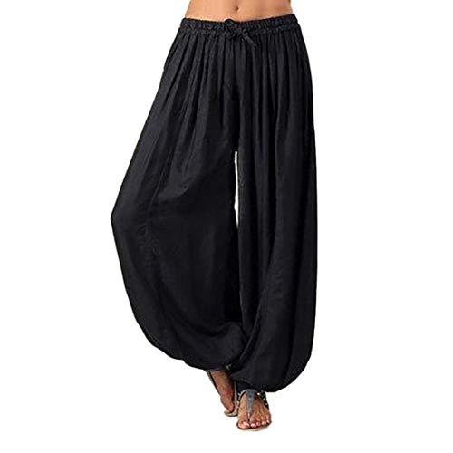 Pantalones Mujer, ASHOP Pantalones Vaqueros Classico Vintage Denim Jeans (Negro,M)