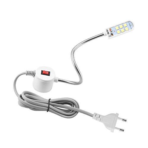 HEEPDD naaimachine verlichting, 6 W, 6 kralen zwanenhals bureau lichten met magnetisch voor draaimachines, boormachines, werkbanken