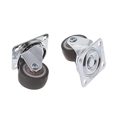 ZLSY 1 Pulgada de 25 mm 360 Giratorio Giratorio Adecuado para Hardware de Muebles 2 con Frenos 2 sin Frenos