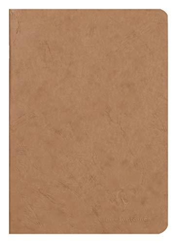 Clairefontaine 733100C Heft AgeBag (DIN A5, 14,8 x 21 cm, blanko, ideal für Ihre Notizen und Zeichnungen, 48 Blatt) 1 Stück braun