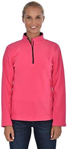 Swiss Alps Womens Quarter Zip Performance Polar Fleece Pullover Sweatshirt Pink Black M product image
