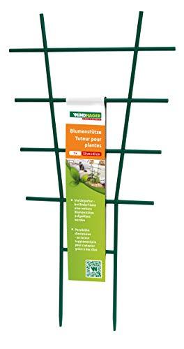 Windhager Blumenstütze Rankhilfe Gitterspalier Rankgitter, Kunststoff, gerade, Grün, 43 x 23 cm - 6