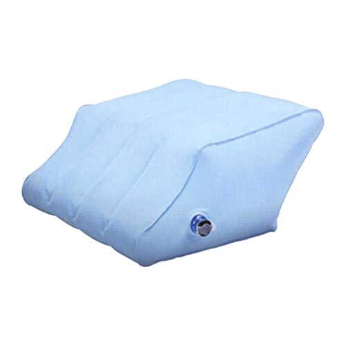 Aufblasbare Höhe Keil Fuß Beinstütze Raiser Stützkissen Kissen-Blau