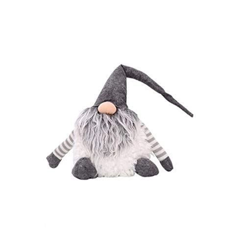 NUOBESTY Christmas Gnome Doll Xmas Plush Doll Toy Fireplace Window Decorations for Kid (Grey) -  P35531398XPL9