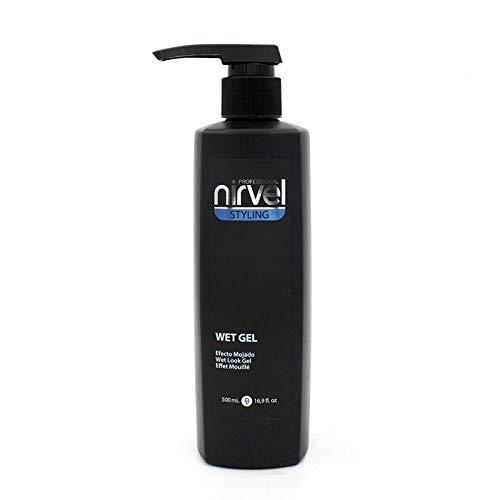 Nirvel Wet Gel - Gel fijación natural, Efecto mojado, 500 ml