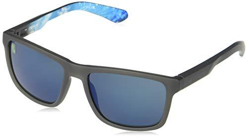 Dragon Herren DR Reed ION-030 Sonnenbrille, Matte Grey/PERMAFROST/LL Gun Blue ION, 57-17-140