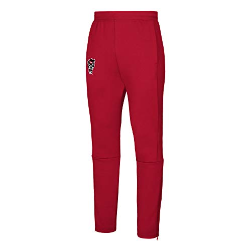 adidas Pantalón para Hombre con Acabado en habitación de la NCAA para Hombre, Hombre, 12G8A77NANCS8S, Rojo, M