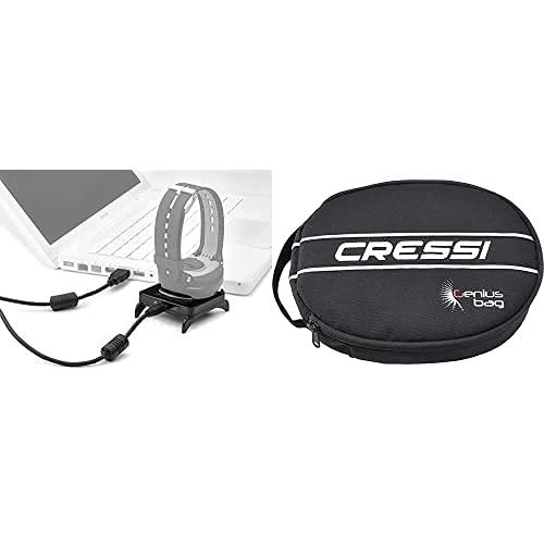 Cressi Interface Leonardo/ Giotto + Bolsa Ordenador Buceo, Negro