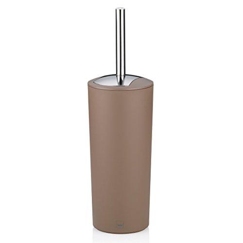 Kela 22277 Marta Set Porte-Brosse WC Plastique Taupe 11 x 11 x 36,50 cm