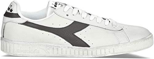 Diadora Game L Low Waxed, Zapatillas de Gimnasia Unisex Adulto, Blanco (White/Black C0351), 42 EU