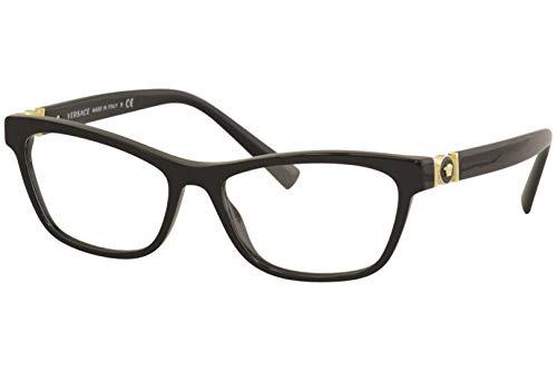 Versace 0VE3272 Monturas de gafas, Black, 54 para Mujer