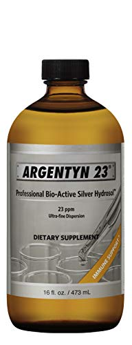 Argentyn 23® Professional Formula Bio-Active Silver Hydrosol for Immune Support* – 16 oz. (473 mL) Value Size Twist Top Bottle – Colloidal Silver – Colloidal Minerals
