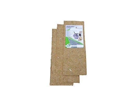 Knaagtapijt van 100% hennep, 150 x 80 cm 5 mm dik, verpakking van 2 stuks (EUR 11,25 / stuks), knaagmat geschikt als kooi bodembedekking, bijv. voor konijnen, cavia's, hamsters, digus, ratten en andere knaagdieren.
