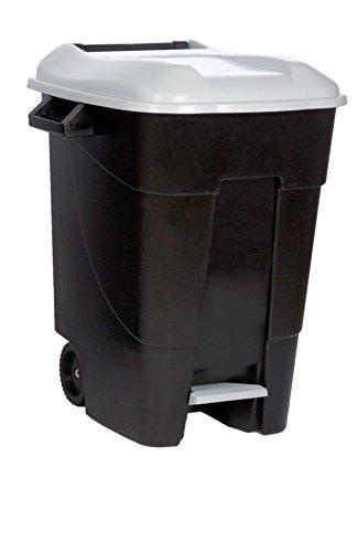 Tayg 421006 Eco - Contenedor de Residuos Eco con Pedal, color Gris, 100 L