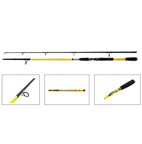 NECO 11182 Bravo - Caña de pescar (fibra de vidrio, longitud 2,4 m, peso 100-250, construcción de 2 componentes, pesca profesional + estuche gratuito)