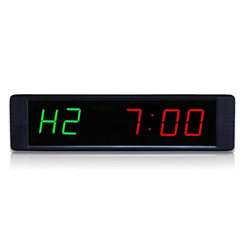 SuoYn Reloj de Pared LED Temporizador for Gimnasia Gimnasio en casa 1