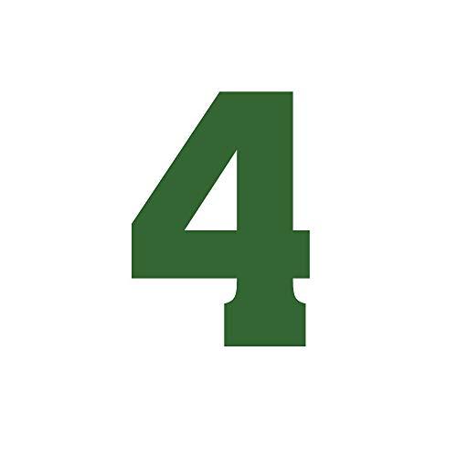 Einzelne Zahl zum Aufbügeln, 0–9, Hitze-Transfer, für T-Shirt oder Trikots, Fußball, Baseball, Sport, grün, Kinder, Zahl-4, Tall: 4