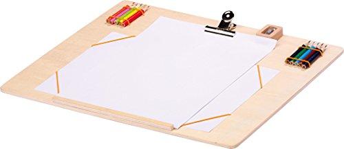 Small Foot Planche à Dessin et 10 Crayons de Couleur pour Enfant 40 x 30 cm