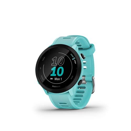Garmin Forerunner 55 - Reloj Inteligente para Running con GPS, Planes de Entrenamiento, notificaciones y Seguimiento del Bienestar, Turquesa