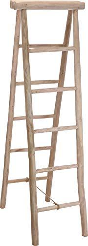 Fair-Shopping Handtuchhalter Teak-Holz-Leiter Handtuch-Ständer Klappleiter Dekoration Größen Variation J560/550 (160 x 65 x 50 cm (J560))