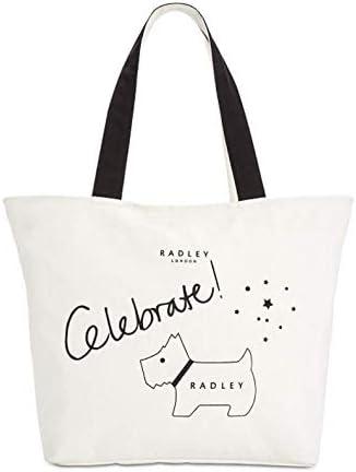 Radley London Celebrate White Tote Canvas Top Zip Handbag product image