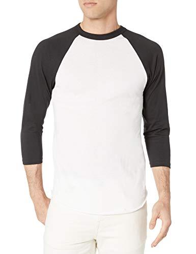 Augusta Sportswear Herren Baseball Jersey, Unisex-Erwachsene Herren, Baseball-Trikot, Men's Baseball Jersey, Medium, White/Black, weiß/schwarz, Medium