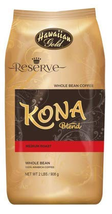 Hawaiian Gold Kona Whole Bean Coffee - 2 Pack (2 - 2 Lbs) (Packaging May Vary)