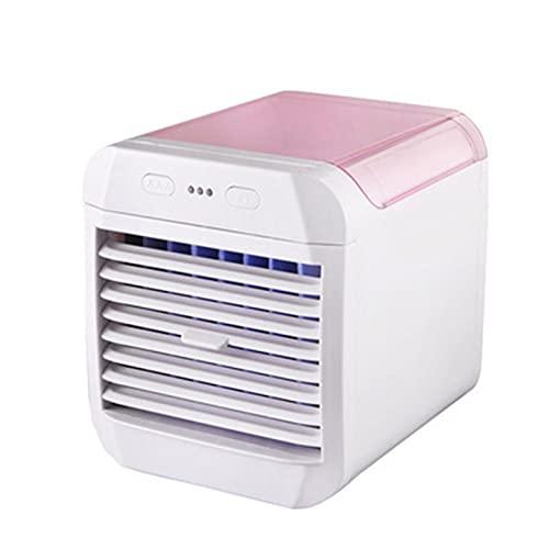Aoten Acondicionador de aire portátil, mini enfriador de aire con 3 velocidades, parte superior recargable, ventilador de refrigeración para sala de oficina