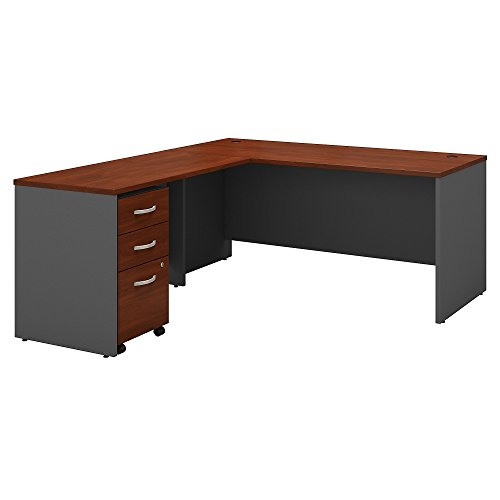 Bush Business Furniture Series C L Shaped Desk with 48W Return and Mobile File Cabinet, 66W, Hansen Cherry