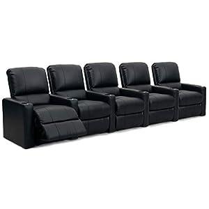 Octane XS300 Sitzladegerät für Kinostühle, Row 5 Cinema-Stühle, Lederfaserstoff, Schwarz