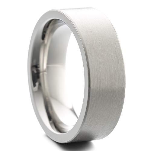 Heideman Ring Damen und Herren Paari aus Edelstahl Silber Farben matt Damenring für Frauen und Männer als Partnerringe strichmatt Gr.62 hr7037-4-62