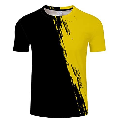 SSBZYES Camiseta para Hombre Camiseta De Manga Corta De Verano para Hombre Camiseta De Gran Tamaño para Hombre Camiseta Estampada para Hombre Camiseta Amarilla De Moda Superior Informal