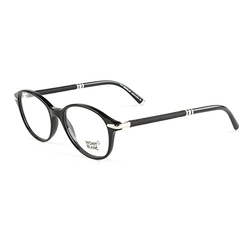 Montblanc Montura de gafas Unisex/Negro Diseño que refleja simplicidad, ligereza y armonía.