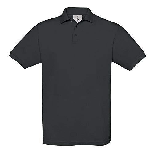 B&C Collection PU409 Mens Short Sleeve Safran Polo Shirt - Dark Grey - X-Large