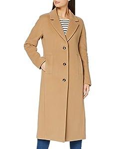 Bugatti Damen 662500-64019-70 Wollmischungs-Mantel, Cognac, 40