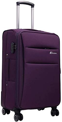 XKstyle Trolley Suitcase Bags Oxford Business Suitcase Caster Brake Tool Trolley Chassis Luggage Trolley 20-28 Inches (3 Colors) Light (size: 24 Inches) (Color : Purple, Size : 28Inch)