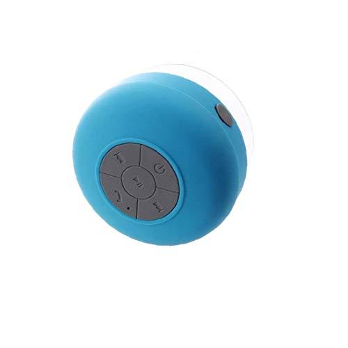 Resistente Al Agua De La Ducha Bluetooth 3.0 Altavoz Altavoz Manos Libres Portátil con Botones De Control Y Dedicado Ventosa - Azul