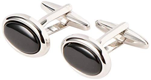 [グリーンレーベルリラクシング] ELIZABETH PARKER エリザベスパーカー カフスボタン オニキス ELLIPSE カフリンクス 31336990739 0900 メンズ ブラック (09) Free