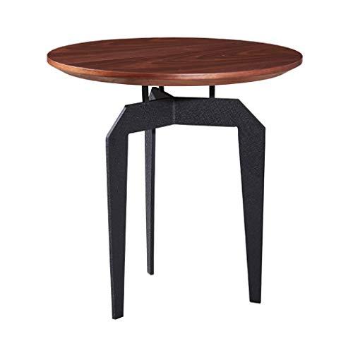 YWXCJ Tables Basses Petite Table Basse Nordique en Fer forgé Simple Mini-Salon Mobile créatif Petite Table Ronde Petite Table canapé côté Coin (Taille : 45X45X50CM)