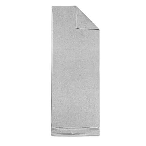 PRINCE Toalla para sauna de algodón puro (70 x 200 cm, 2 hilos con anillo, 550 g/m², lavable a 60°), color gris