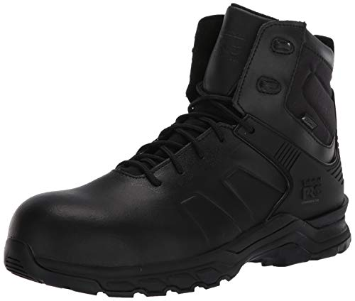 Timberland PRO Men's Hypercharge 6 Inch Composite Safety Toe Puncture Resistant Side-Zip Waterproof Tactical Duty Uniform Work, Black, 7.5 Wide