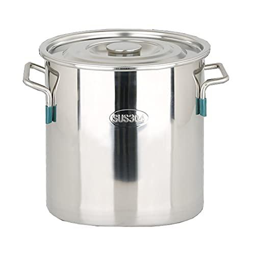 Pentole fumanti 304 Acciaio inossidabile Acciaio inossidabile Pentola, Pentola di zuppa addensata/per uso domestica con coperchio per stufa a gas/Fornello a induzione (12-98L) Recipiente di cottur